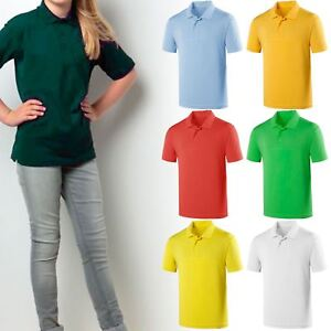 36caf4ba9635 KIDS BOYS GIRLS POLO T-SHIRTS FRUIT OF THE LOOM PE SCHOOL UNIFORM ...