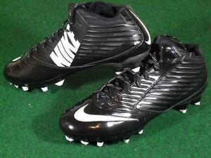 Nike Vapor Speed 3//4 TD Men Football Cleats 643155-010 Black White Brand New