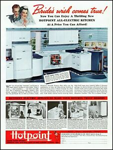 1940-Hotpoint-kitchen-appliances-young-bride-groom-vintage-photo-Print-Ad-adL71