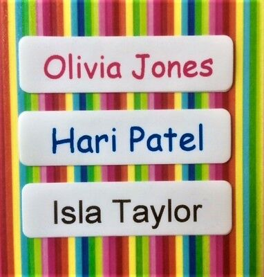 15 Printed Iron On Name Labels Personalised School Clothes Tags Boys Waterproof