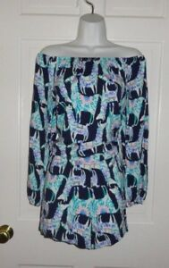 1316421f3a25 Image is loading NWT-LILLY-PULITZER-BRIGHT-NAVY-ALPACA-MY-BAGS-