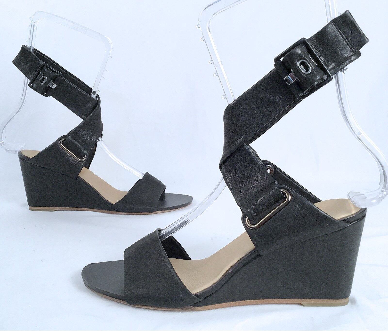 New   rag & bone 'Damien' Sandal- Black-  Size 7.5 US  37.5 EU   450 (J2)