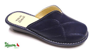 stile unico prezzo folle prezzi Dettagli su OFFERTA TIGLIO ciabatte pantofole donna invernali comode 1609  sintetico Blu
