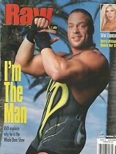OCTOBER 2001 WWE RAW WRESTLING MAGAZINE RVD ROB VAN DAM WRESTLEMANIA LEGEND
