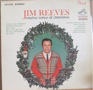 JIM REEVES, TWELVE SONGS OF CHRISTMAS - LP | eBay
