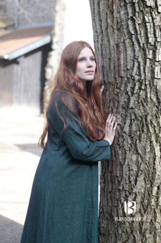 Green by Burgschneider Medieval Undergarment Viking Dress Robe //Larp