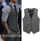 New Mens Slim Fit Waistcoat Vest Casual Business Suit Vest Waistcoat Vest Tops
