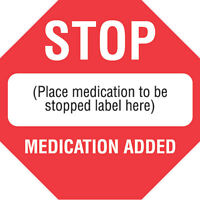 Stop Medication Already Added 1.5w X 1.5h 300 Roll on Sale