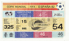 Rare ticket place COUPE MONDIALE FIFA ESPANA 82-BARCELONA-325