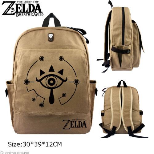 Breath of the Wild Backpack Satchel Canvas Shoulder Bag Cos The Legend of Zelda