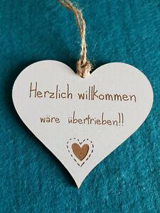 HS 295 Familie Spruch Herz Holzschild Schild HDF weiß