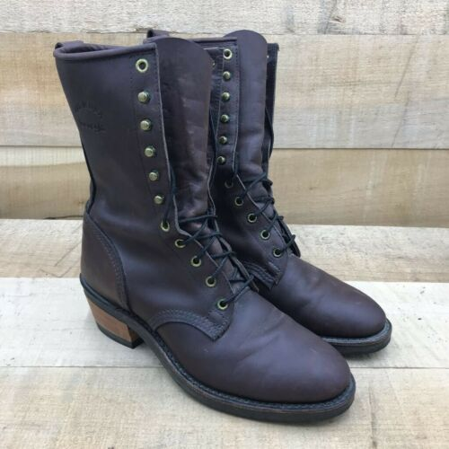 Georgia Mens Boots Brown Leather Lace Up Waterproo