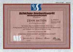 Schichau-Seebeckwerft-500-DM-Bremerhaven-Weser-Danzig-1988-Weser-Gewinnanteile