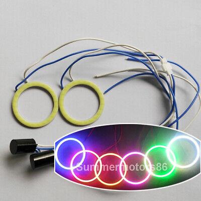 Fulintech Angel Eyes LED COB Halo Car Ring DRL Daytime Running Lights 100mm Green 12V 24V DC,Pack of 2 Green
