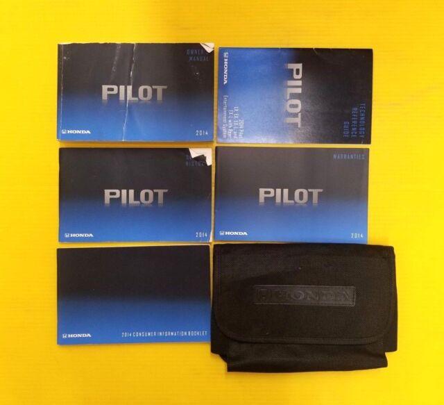 Pilot 14 2014 Honda Owners Owner U0026 39 S Manual Set With Case