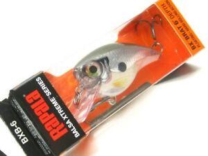Rapala BXB-6 Pearl Gray Shinner Balsa Xtreme Brat 06 Crankbait Fishing Lure