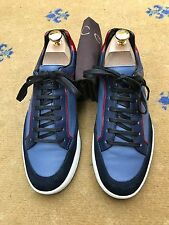 Gucci Men's Trainers Sneakers Blue Leather Suede Shoes UK 6.5 US 7.5 EU 40.5