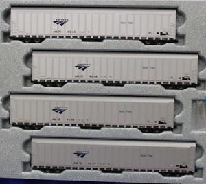 KATO-1065506-N-Scale-AMTRAK-Autorack-Phase-V-4-Car-Set-4-106-5506