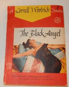Vintage-1943-The-Black-Angel-by-Cornell-Woolrich-Paperback-Detective-novel