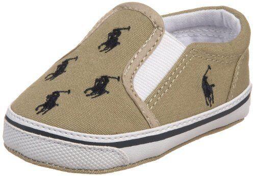 bc3c9d7cdc8df Buy Ralph Lauren Boy Infant Bal Harbour Repeat Khaki navy Crib Shoes US 3  (25219) online