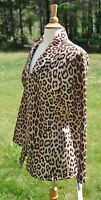 Jaguar Print Jacket Size Medium (m) Toteables Susan With Tags