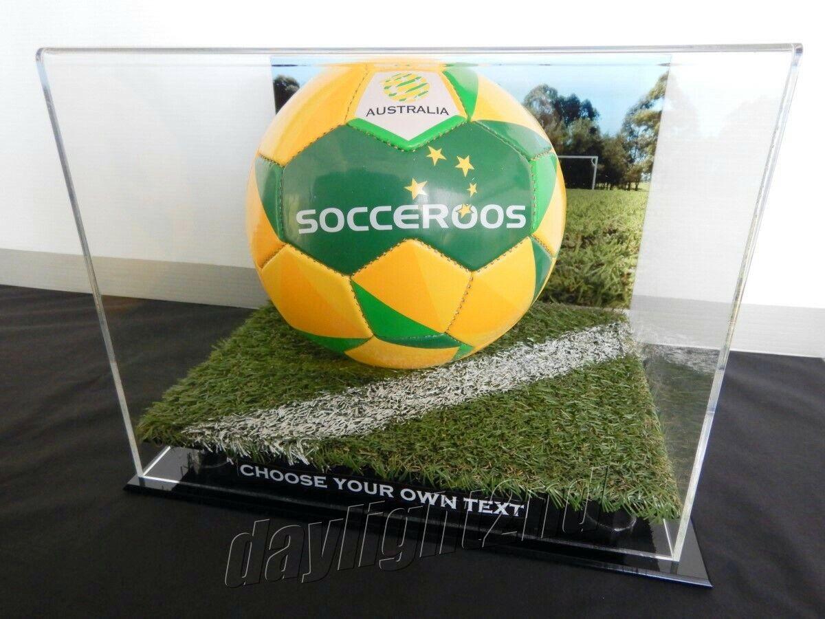 ✺ nuevo ✺ caso de exhibición de fútbol-Socceroos A-League EPL Recuerdos De Fútbol