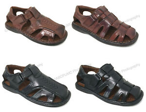 Brand-New-Men-039-s-Fisherman-Sandals-Closed-Toe-Adjustable-Buckle-Casual-Slippers
