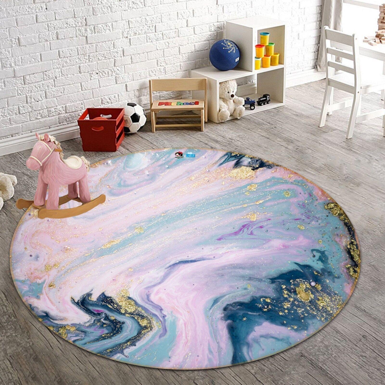 3D Rosa Rosa Rosa Starry Sky 5 Non Slip Rug Room Mat Round Quality Elegant Photo Carpet AU b63160