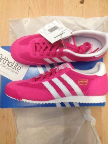 eccellente rosa taglia con nuovi scatola Trainers originali Adidas Dragons 3 AnfqwRF