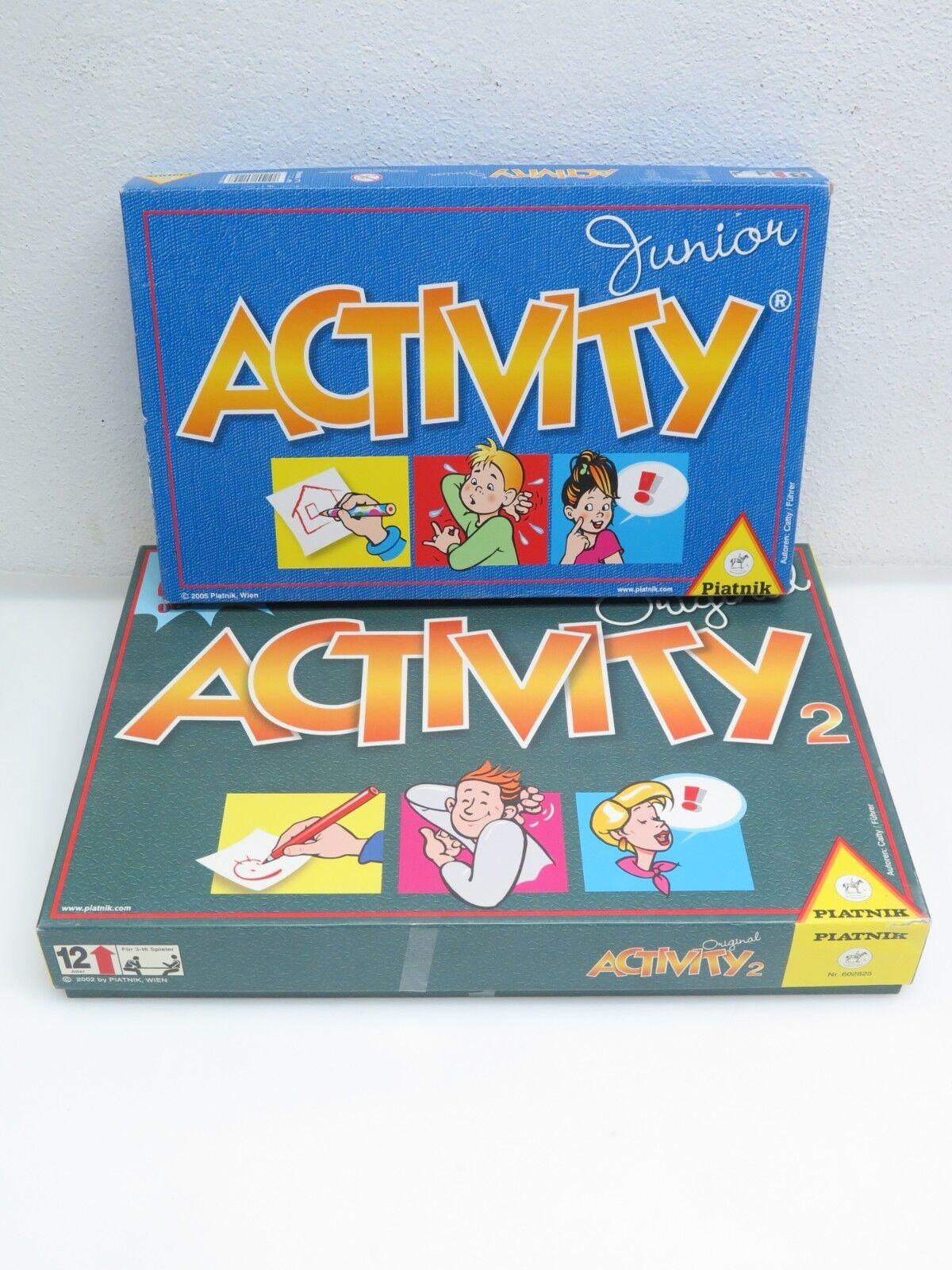 Bundle Activity 2 (2002) und Activity Junior (2005) Spiel Piatnik 601248 602825