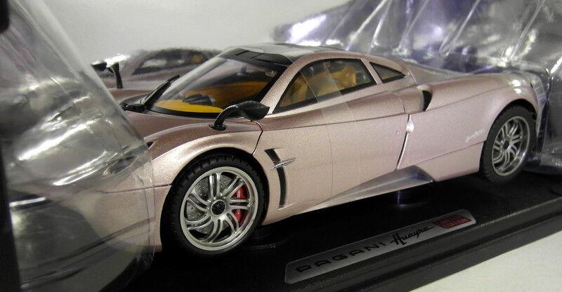 Motormax 1/18 SCALA-PAGANI OSCURA COLOR ORO METALLICO supercar auto Modello Diecast