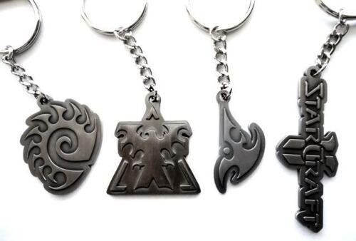 4 sous licence officielle Blizzard Starcraft II 2 Zerg Terrien Protoss Key Chain Ring