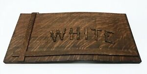 Vintage-Oak-Wood-Carved-White-Sewing-Machine-Cabinet-Parts-Face-Front-Ornamental