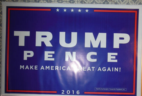 Donald Trump /& Mike Pence yard sign polybag 2 sided all weather FREE shipping