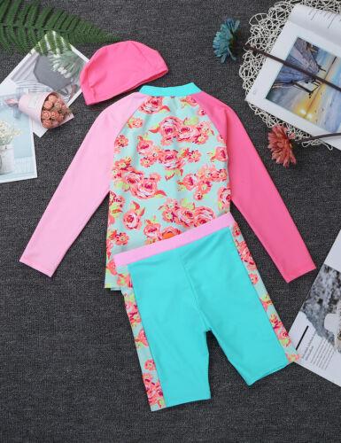 Toddler Kids Girls Rash Guard Swimwear Tankini Swimsuit Bathing Suit Beachwear