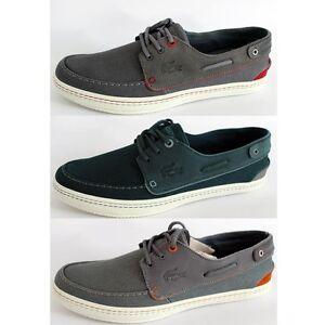 LACOSTE-SUMAC-10-AP-SRM-DK-chaussures-de-bateau-baskets-sport-homme-toile