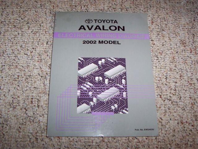 2002 Toyota Avalon Electrical Wiring Diagram Manual Xl Xls