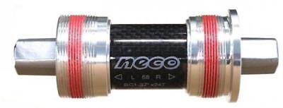 Carbon Shell Cr-Mo Axle 68mm x 116mm 9124 Sealed BB Bottom Bracket Neco