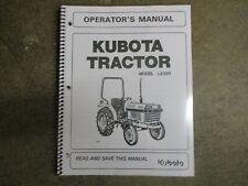 Kubota L2350 L 2350 Dt Tractor Owners Amp Maintenance Manual
