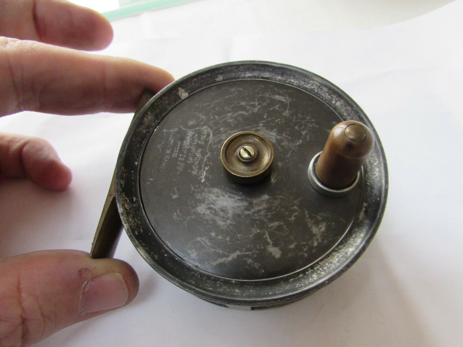 Vintage ogden smith centrebrake trout fly fishing reel built by smith + wall 3