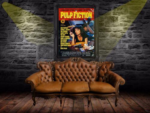 Pulp Fiction 1994 Retro Movie Poster Print A0-A1-A2-A3-A4-A5-A6-MAXI 589