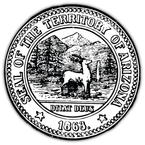 "Arizona USA State Seal 1904 Car Bumper Sticker Decal /""SIZES/"""