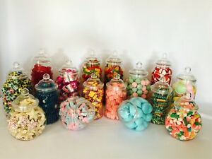 16 assorted victorian plastic sweet jars candy buffet wedding party
