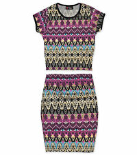 Girls Skirt And Crop Top T Shirt Printed Set Kids Outfit New Age 5 - 13 Years
