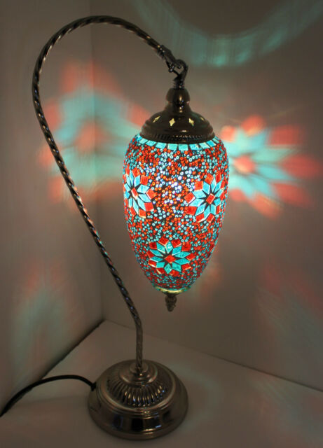 Turkish table lamp moroccan table light led silver swan mosaic glass bronze1 turkish table lamp moroccan table light led silver swan mosaic glass bronze aloadofball Images