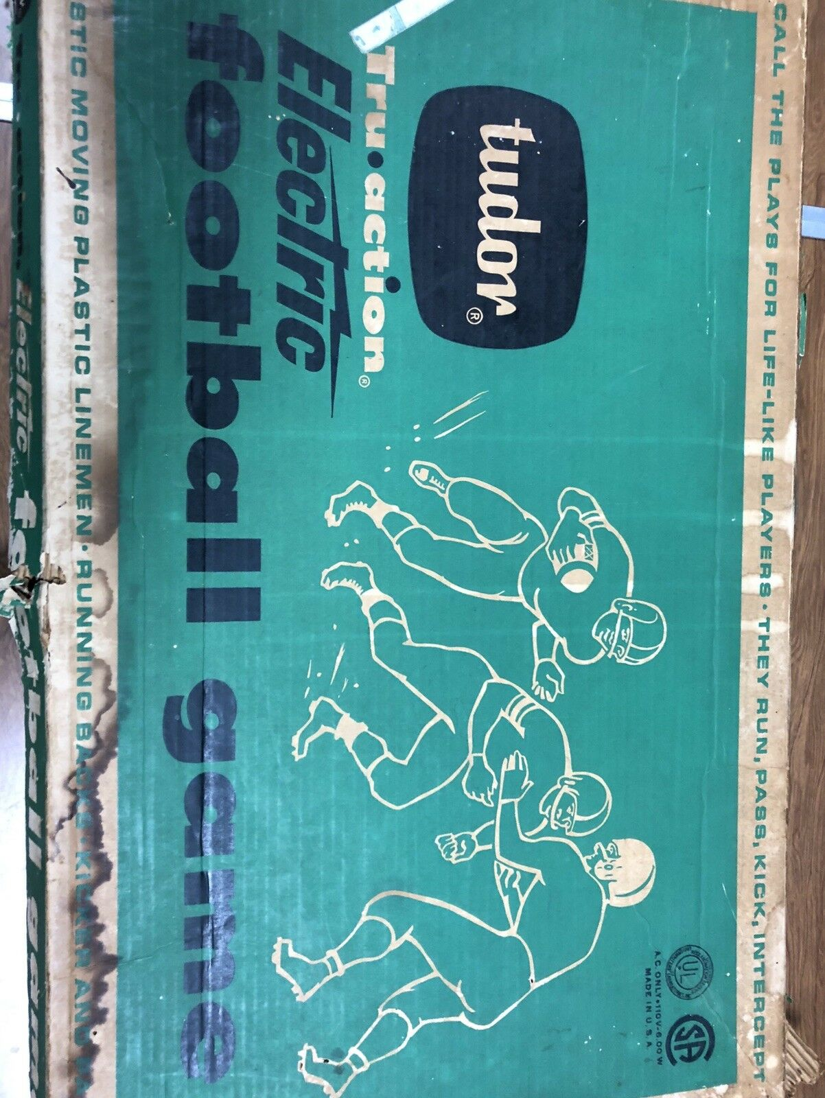 Vintage Tudor Tru acción eléctrico juego de fútbol  500 FS funciona muy bien