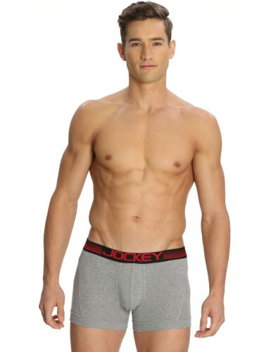 Mens JOCKEY Long Boxer Brief Zone Stretch Underwear Brief # US20 S M L XL 2 Pack