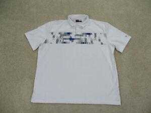 Callaway Polo Shirt Adult 2XL XXL White Gray Lightweight Golfing Golf Mens B32*