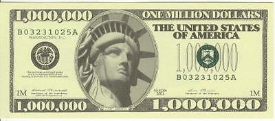 Million Dollar Bill Lady Liberty series 2001 Novelty Money Lot Of 10 U.S