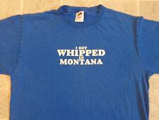 PINNACLE VODKA I Got Whipped In Montana T-SHIRT Mens MED Whip Cream Liquor Funny